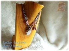 画像15: セレナイト・ジプサム・雫型・マクラメペンダント  てんてんの贈り物♪ No.3331 (15)