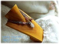 画像14: セレナイト・ジプサム・雫型・マクラメペンダント  てんてんの贈り物♪ No.3331 (14)