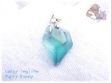 画像2: 📜 コード選択式 宝石質 結晶 ブルー グリーン フローライト ネックレス No.3390 (2)