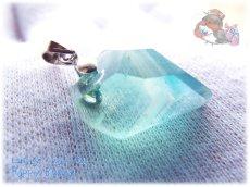 画像4: 📜 コード選択式 宝石質 結晶 ブルー グリーン フローライト ネックレス No.3390 (4)