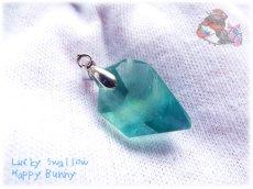 画像5: 📜 コード選択式 宝石質 結晶 ブルー グリーン フローライト ネックレス No.3390 (5)