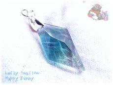 画像1: 📜 特級品 コード選択式 宝石質 結晶 パキスタン産 ブルー パープル フローライト ネックレス No.3391 (1)