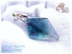 画像5: 📜 特級品 コード選択式 宝石質 結晶 パキスタン産 ブルー パープル フローライト ネックレス No.3391 (5)