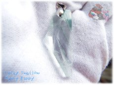画像2: 📜 高透明特化 コード選択式 宝石質 結晶 アメリカ産 クリア フローライト ネックレス No.3392 (2)