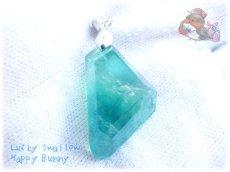 画像4: 📜 特級品 コード選択式 宝石質 結晶 パキスタン産 エメラルドグリーン ブルー バイカラー グラデーション フローライト ネックレス No.3395 (4)