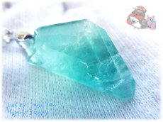 画像3: 📜 特級品 コード選択式 宝石質 結晶 パキスタン産 エメラルドグリーン ブルー バイカラー グラデーション フローライト ネックレス No.3395 (3)