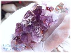 画像5: 希少 特殊 カナダ産 アメジストクラスター 標本 原石(別名:アメシスト 紫水晶) No.3404 (5)