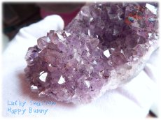 画像2: 希少 特殊 カナダ産 アメジストクラスター 標本 原石(別名:アメシスト 紫水晶) No.3407 (2)
