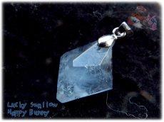 画像3: マダガスカル産 結晶 セレスタイト ネックレス ペンダント コード選択式(別名 天青石 celestite ) No.3442 (3)