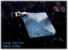画像4: マダガスカル産 結晶 セレスタイト ネックレス ペンダント コード選択式(別名 天青石 celestite ) No.3442 (4)