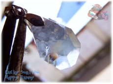 画像1: 希少品 多結晶 マダガスカル産 結晶 セレスタイト ネックレス ペンダント コード選択式(別名 天青石 celestite ) No.3456 (1)