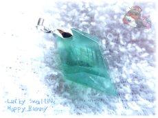 画像2: コード選択式 虹入り アフガニスタン産 ブルーグリーンフローライト ネックレス ペンダント No.3463 (2)