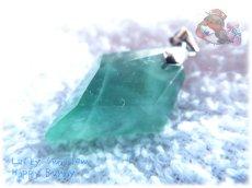 画像5: コード選択式 虹入り アフガニスタン産 ブルーグリーンフローライト ネックレス ペンダント No.3463 (5)