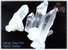 画像1: 天然水晶クラスター 標本 原石(別名:クォーツ quartz 石英) No.3464 (1)