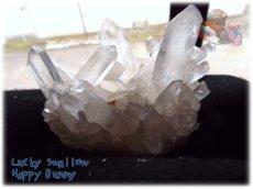 画像1: 天然水晶クラスター 標本 原石(別名:クォーツ quartz 石英) No.3469 (1)