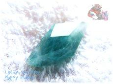 """画像4: """" 永久凍土 """" スカルドゥ地域 パキスタン産  Skardu Pakistan  希少 ブルーグリーンフローライト ノンホールルース No.3498 (4)"""