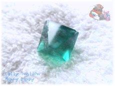 画像4: 蛍光反応 フローライト八面体 研磨済み フローレセンスフローライト No.3522 (4)
