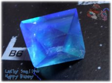画像5: 蛍光反応 フローライト八面体 研磨済み フローレセンスフローライト No.3522 (5)
