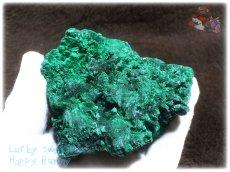 画像2: 610g超級 希少限定収蔵品 コンゴ産 ベルベット マラカイト 結晶標本 (別名:孔雀石 ビロードマラカイト Velvet Malachite 天鵞絨孔雀石 ) No.3553 (2)