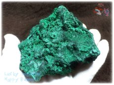画像3: 610g超級 希少限定収蔵品 コンゴ産 ベルベット マラカイト 結晶標本 (別名:孔雀石 ビロードマラカイト Velvet Malachite 天鵞絨孔雀石 ) No.3553 (3)