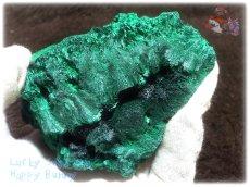 画像6: 610g超級 希少限定収蔵品 コンゴ産 ベルベット マラカイト 結晶標本 (別名:孔雀石 ビロードマラカイト Velvet Malachite 天鵞絨孔雀石 ) No.3553 (6)