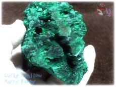 画像10: 610g超級 希少限定収蔵品 コンゴ産 ベルベット マラカイト 結晶標本 (別名:孔雀石 ビロードマラカイト Velvet Malachite 天鵞絨孔雀石 ) No.3553 (10)