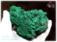画像11: 巨大結晶 340g超級 希少限定収蔵品 コンゴ産 ベルベット マラカイト 結晶標本 (別名:孔雀石 ビロードマラカイト Velvet Malachite 天鵞絨孔雀石 ) No.3554 (11)