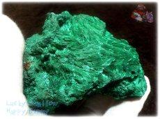 画像8: 巨大結晶 340g超級 希少限定収蔵品 コンゴ産 ベルベット マラカイト 結晶標本 (別名:孔雀石 ビロードマラカイト Velvet Malachite 天鵞絨孔雀石 ) No.3554 (8)