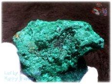 画像7: 巨大結晶 340g超級 希少限定収蔵品 コンゴ産 ベルベット マラカイト 結晶標本 (別名:孔雀石 ビロードマラカイト Velvet Malachite 天鵞絨孔雀石 ) No.3554 (7)