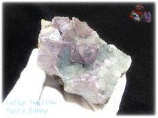 画像4: 約259g フローライト+カルサイト クラスター マトリックス標本 インテリア 結晶 (別名:fluorite 蛍石 螢石 calcite 方解石 ) No.3556 (4)