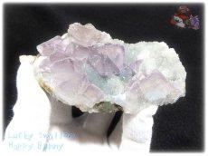 画像2: 約259g フローライト+カルサイト クラスター マトリックス標本 インテリア 結晶 (別名:fluorite 蛍石 螢石 calcite 方解石 ) No.3556 (2)