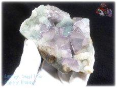 画像3: 約259g フローライト+カルサイト クラスター マトリックス標本 インテリア 結晶 (別名:fluorite 蛍石 螢石 calcite 方解石 ) No.3556 (3)