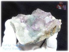 画像5: 約259g フローライト+カルサイト クラスター マトリックス標本 インテリア 結晶 (別名:fluorite 蛍石 螢石 calcite 方解石 ) No.3556 (5)
