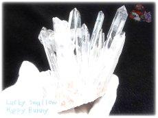 画像2: 約260g 水熱育成法 人工水晶 クォーツ クラスター インテリア 結晶 (別名:クォーツ 水晶 石英 ) No.3558 (2)