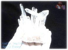 画像3: 約260g 水熱育成法 人工水晶 クォーツ クラスター インテリア 結晶 (別名:クォーツ 水晶 石英 ) No.3558 (3)