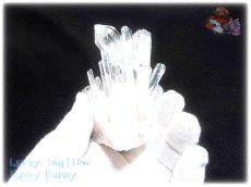 画像4: 約260g 水熱育成法 人工水晶 クォーツ クラスター インテリア 結晶 (別名:クォーツ 水晶 石英 ) No.3558 (4)