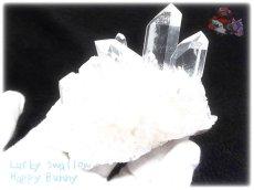 画像4: 約238g 水熱育成法 人工水晶 クォーツ クラスター インテリア 結晶 (別名:クォーツ 水晶 石英 ) No.3560 (4)