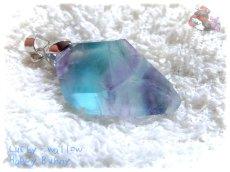 画像4: コード選択式 パキスタン産 不思議な色のブルーフローライト ネックレス ペンダント No.3572 (4)