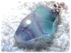 画像5: コード選択式 パキスタン産 不思議な色のブルーフローライト ネックレス ペンダント No.3572 (5)
