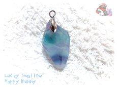 画像7: コード選択式 パキスタン産 不思議な色のブルーフローライト ネックレス ペンダント No.3572 (7)