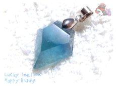 画像3: セール品 コード選択式 ブルーグリーンフローライト バイカラーブルーフローライト ネックレス ペンダント No.3573 (3)