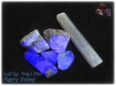 画像2: 蛍光反応 フローライト各種  蛍石 鑑別済み メニューにより八面体あり (2)