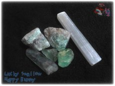 画像4: 蛍光反応 フローライト各種  蛍石 鑑別済み メニューにより八面体あり (4)
