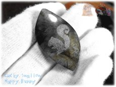 画像2: りすちゃんカービングルース ラブラドライト リス 栗鼠  No.3863 (2)
