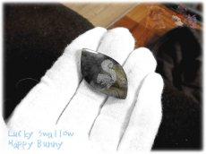 画像5: りすちゃんカービングルース ラブラドライト リス 栗鼠  No.3863 (5)