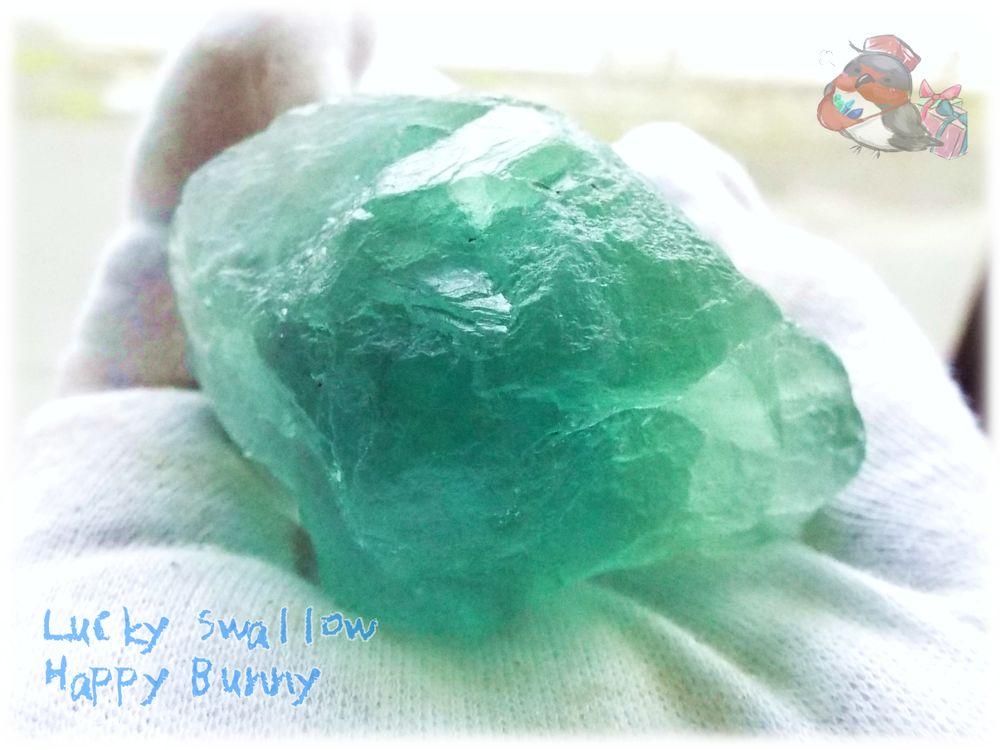 画像1: ⚒️ 天然ブルーグリーンフローライト原石 (英名:fluorite 別名:螢石 蛍石) No.3353 (1)