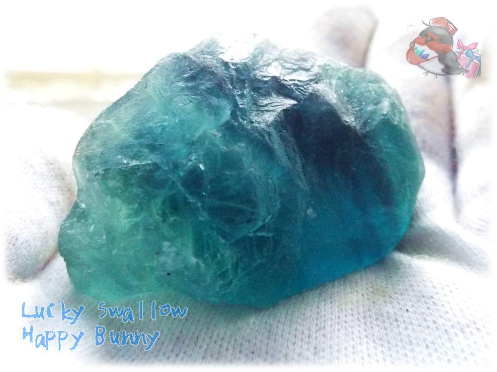 画像1: ⚒️ 特殊 天然ブルーグリーンフローライト原石 (英名:fluorite 別名:螢石 蛍石) No.3355 (1)