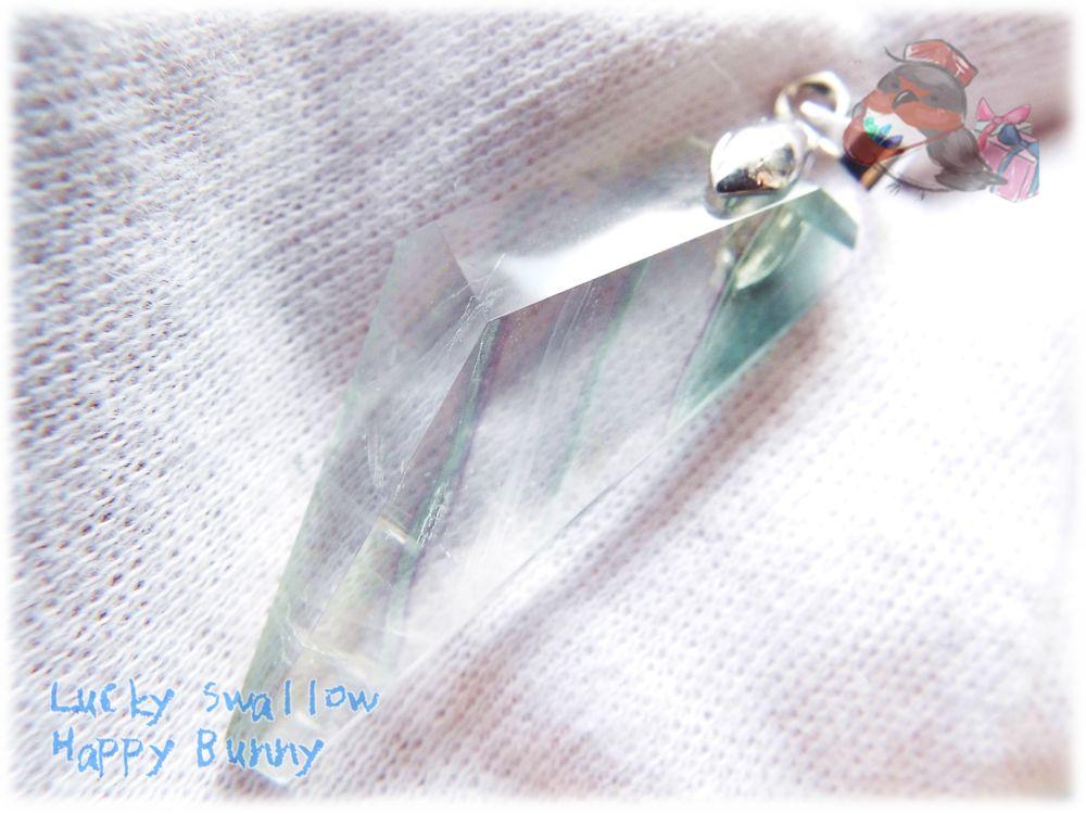 画像1: 📜 高透明特化 コード選択式 宝石質 結晶 アメリカ産 クリア フローライト ネックレス No.3392 (1)