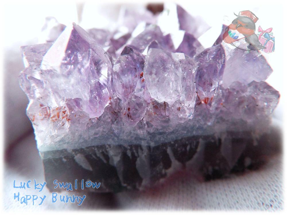 画像1: 希少 特殊 カナダ産 アメジストクラスター 標本 原石(別名:アメシスト 紫水晶) No.3405 (1)