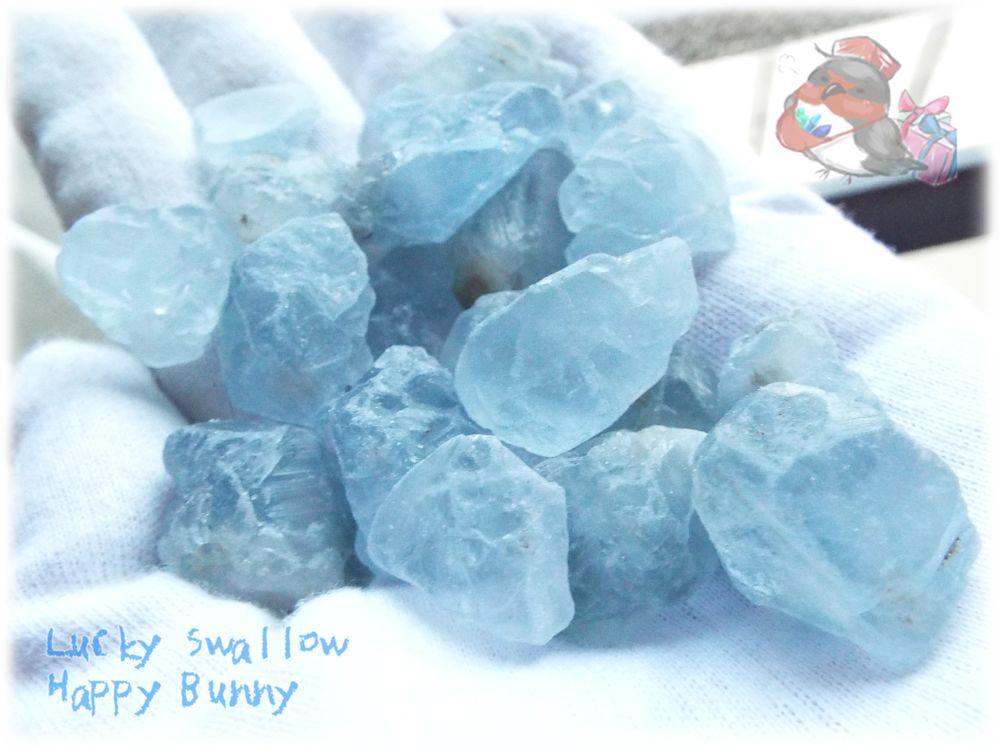 画像1: 素材向け ほぐし済み マダガスカル産 セレスタイト 結晶粒 さざれ石(別名:天青石 celestite) (1)